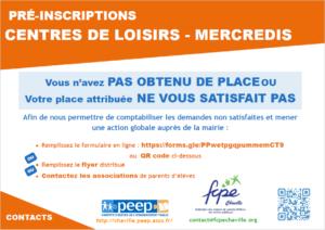 Affiche questionnaire inscriptions periscolaires 2019-2020