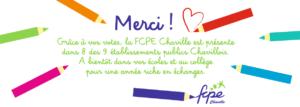 la FCPE chaville est présente dans 8 écoles chavilloises